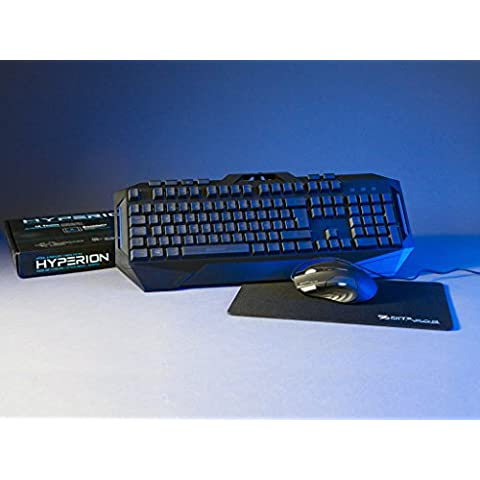 Coolbox Quasar Hyperion kit gaming (ratn + teclado + alfombrilla)