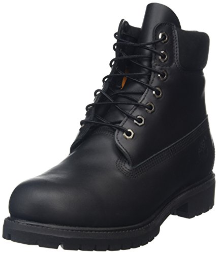 Timberland 6 in Premium, Stivaletti Uomo, Nero (Black Smooth), 41.5 EU