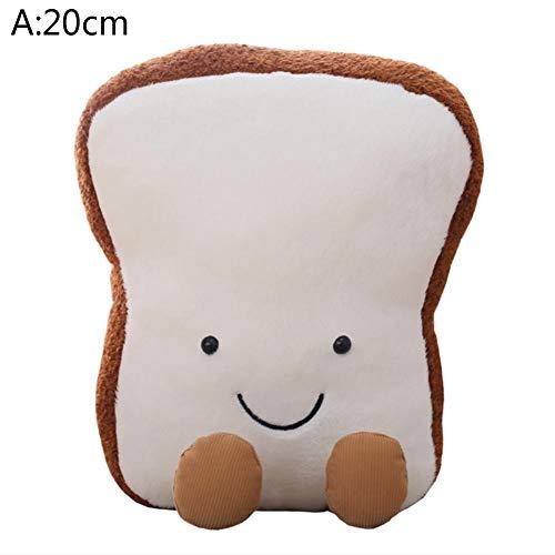 Lucky-all star Innovatives Toastbrot-Plüschtier - Süßes Toastbrot-Plüschkissen Comfort Weiches, spaßiges Spielzeuggeschenk für Kinder, Kinder, Jungen, Mädchen