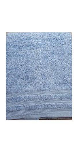Set Asciugamani Bagno Telo Viso e Ospite 1+1 in Spugna 100% cotone Bassetti (Celeste Chiaro)