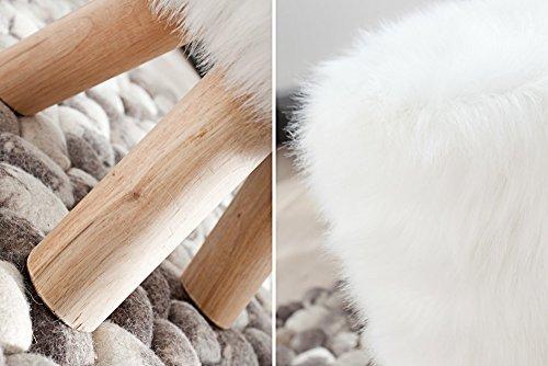 Invicta interior sgabello in pelliccia sintetica colore: bianco.