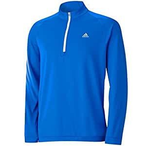 2015 Adidas 3-Stripes Half Zip Fleece Training Top Mens Golf Cover-Up Bright Blue XXL