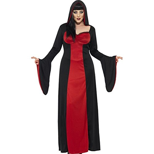 Halloween Plus Size Damen Kostüm dunkle Vampir Gräfin Hexe Größe (Size Plus Vampir Kostüme)