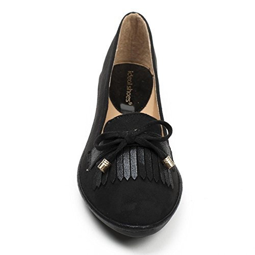 Ideal Shoes ,  Ballerine donna Nero