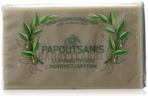 "Green Pure Olive Oil Soap ""Papoutsanis"" Pack of 6"