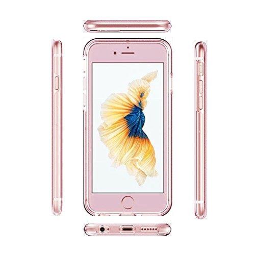MOMDAD Souple Coque pour Apple iPhone 4 4S TPU Silicone Étui iPhone 4 4S Soft Housse Protecteur Case iPhone 4 4S Transparent Coque iPhone 4 4S Absorbant Chocs Protection Étui iPhone 4 4S Anti-Scratch  Transparent rose or