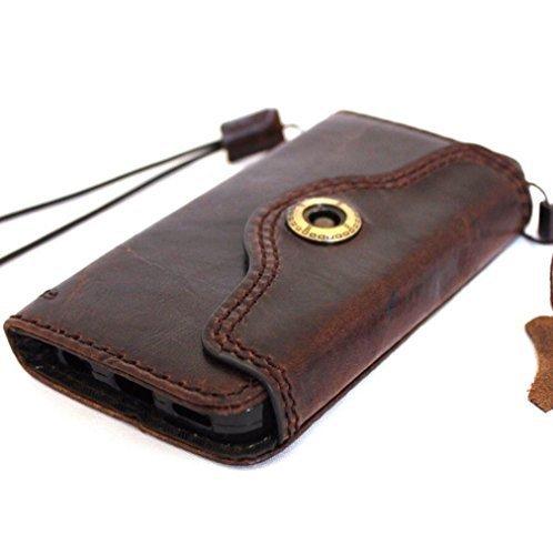 véritable huile Vintage en cuir fait main Étui rigide pour Apple iPhone se Portefeuille Housse Luxe Spécial Retro ID 5C 5S
