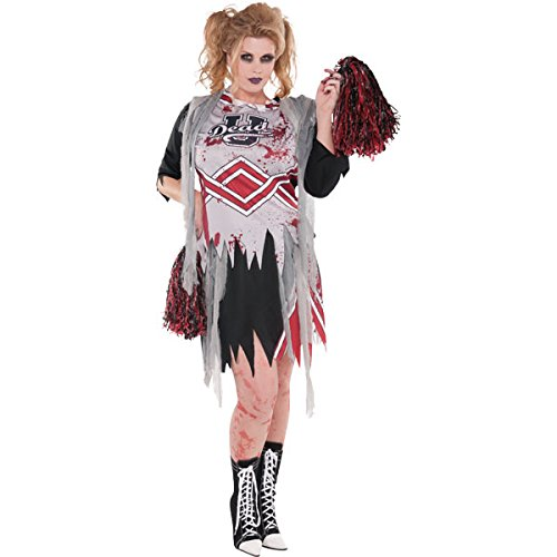 Cheerless Zombie - Adult Costume AMS LADY PLUS SZ (Size Plus Kostüme Kids)
