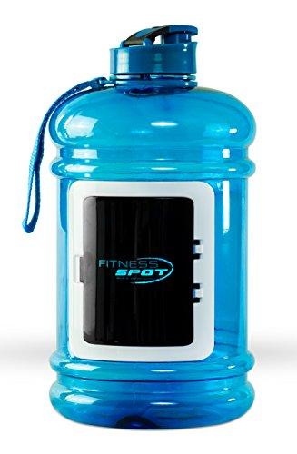 Premium Wasserflasche 2,2l, Trinkflasche Blau, Blender Bottle, BPA-Frei, Water Jug, Water Bottle, Perfekte Sporttrinkflasche für Krafttraining, Fitness & Bodybuilding