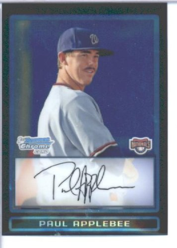 paul-applebee-washington-nationals-draft-pick-prospect-rc-extended-rookie-card-2009-bowman-chrome-dr