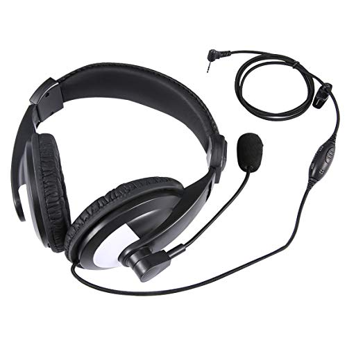 Monllack Kopfhörer Noise Reduction Headset mit Kabel-Modus für Motorola 230R / 350 / T5 / 6200C Walkie Talkie 1 Pin - Walkie Mr350r Talkies Motorola