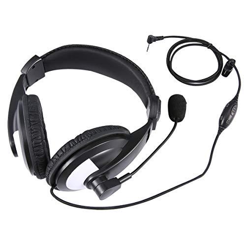 Monllack Kopfhörer Noise Reduction Headset mit Kabel-Modus für Motorola 230R / 350 / T5 / 6200C Walkie Talkie 1 Pin - Motorola Walkie Talkies Mr350r