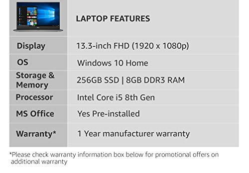 Dell XPS 9360 Intel Core i5 8th Gen 13.3-inch FHD Laptop (8GB/256GB SSD/Windows 10 Home/MS Office/1.5 kg) Image 4