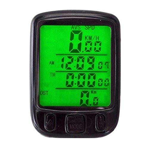 Sanwood Fahrrad LCD-Hintergrundbeleuchtung Bike Tachometer