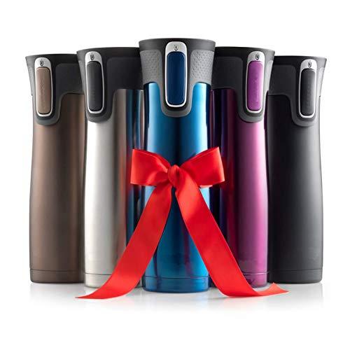 MLPNJ Isolierbecher für Reisen, Thermo, Kaffeebecher, Vakuumbecher aus Edelstahl, isolierte Tassen, Wasserflasche, Thermoskanne mit Heizung Silvery 450ml
