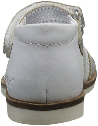 Kickers Baby Mädchen Gigi Krabbelschuhe Blanc (Blanc Argent)
