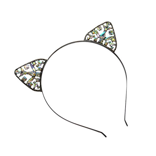 and, Strass Katze Ohr Haarband für Frauen Mädchen (Einfach Katze Kostüm Für Arbeit)
