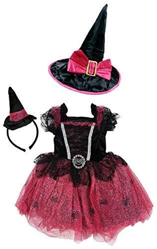 Get Wivvit Mädchen Spinne Hexe Kostüm Party Halloween -