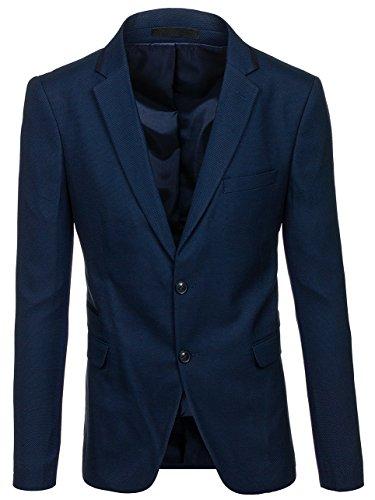 BOLF Herren Sakko Slim Fit Blazer Classic Elegant BIBLOS 1050 Dunkelblau XXL/56 [4D4]