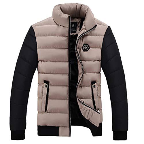 Luckycat Herren Winter Farbe Collision Cotton Jacket Verdickung warme Baumwolle gepolsterten Mantel Mode 2018