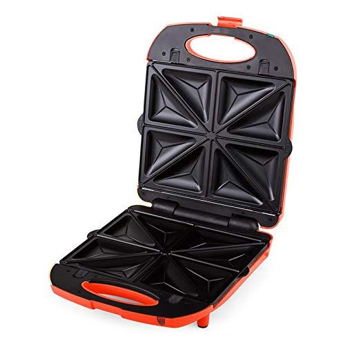 Klarstein trinity 3 in 1 • griglia per sandwich xxl • griglia per waffle • griglia a contatto • 1300 w • 3 piastre interscambiabili • canale scarico grasso • chiusura a clip • colore rosso