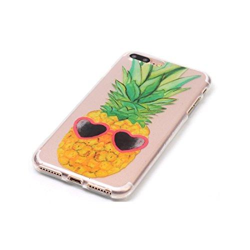 iPhone 7 Plus Custodia Case, Clear Ultra sottile protettiva TPU Silicone Back Rubber Bumper Protector iPhone 7 Plus copertura Cover 5.5 - Cranio # 8