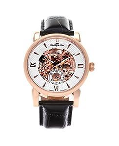 Lindberg & Sons Herren-reloj analógico de pulsera automático de cuero SK14H050 de Lindberg&Sons