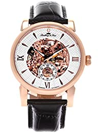 Lindberg & Sons Herren-reloj analógico de pulsera automático de cuero SK14H050
