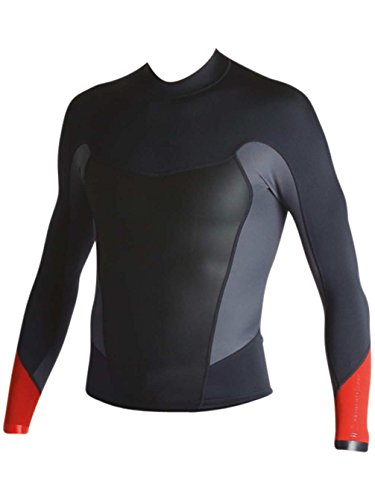 BILLABONG 2017 Absolute Comp 1mm L/S Neoprene Top in Orange C42M19 Size - - Extra Large