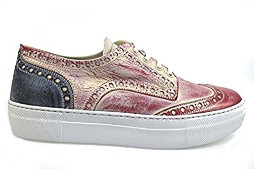 scarpe donna BARRACUDA 40 classiche blu rosso pelle AP594