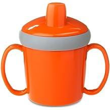 Rosti Mepal - Tazza con beccuccio antigoccia, colore: arancione