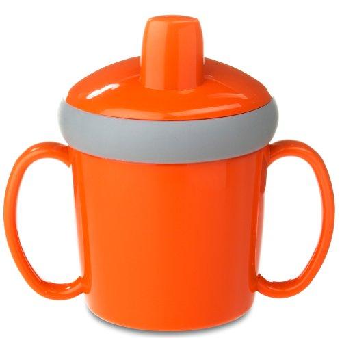 Mepal Lerntasse Anti Tropf 200 ml, Kunststoff, Orange, 12.3 x 8.1 x 11.2 cm, 1 Einheiten -