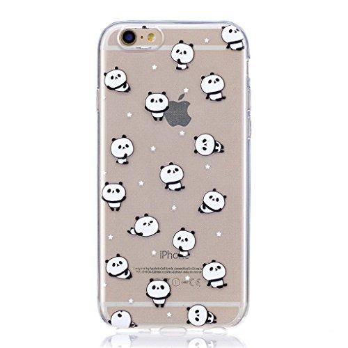 """Coque pour Apple iPhone 6S Plus / 6 Plus , IJIA Transparent Fries Hamburgers Pizza TPU Doux Silicone Bumper Case Cover Shell Housse Etui pour Apple iPhone 6S Plus / 6 Plus (5.5"""") LF6"""
