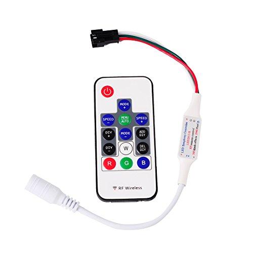 Preisvergleich Produktbild BTF-LIGHTING 14 Schlüssel WS2811 und WS2812B DC5V-12V kabellos RF Led RGB Controller 300 verschiedene Arten von digitaler Farbe LED Licht Modulstreifen