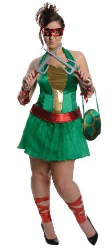 Kostüm Raphael TMNT für große Frauen