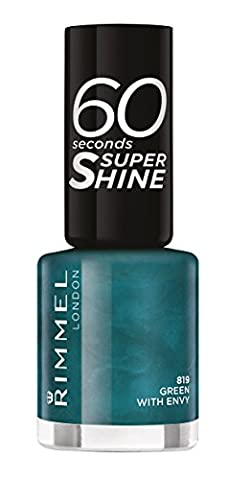 Rimmel 60 Seconds Super Shine Nail Polish - 8 ml, Green with Envy