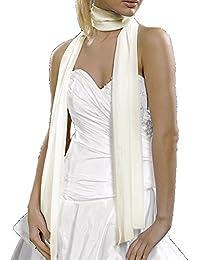 Chiffon-Stola / Schultertuch, zum Abendkleid oder Brautkleid, ca 150 x 50 cm, leicht glänzend, durchschimmernd, ungefüttert