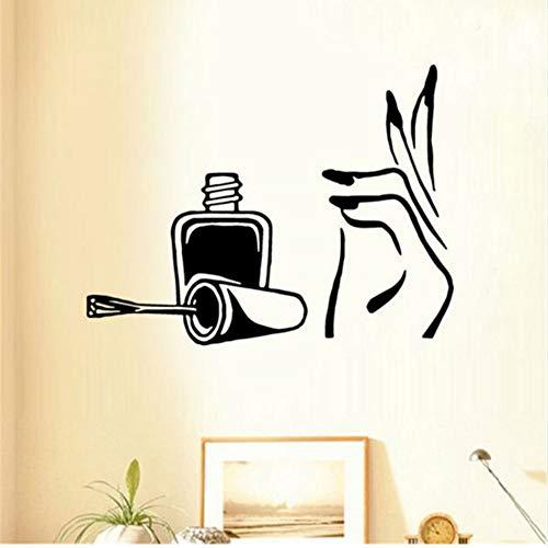 Mhdxmp Nagellack Schönheitssalon Mädchen Schlafzimmer Wandkunst Aufkleber Abziehbilder Vinyl Home Room 57 * 75 Cm (Nagellack Holiday)