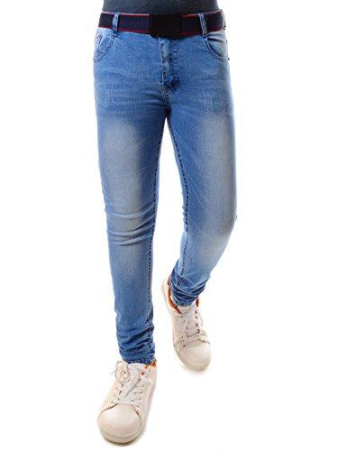 Fashion Boy Jungen Jeans Kinder Hose Biker Style Riss Akzente Strech Hosen 21747, Größe:152 (Jungen Jeans Größe 12)