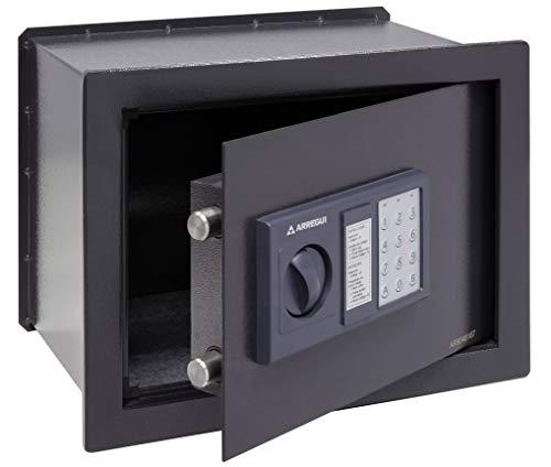 Arregui W25EB Caja fuerte de empotrar electrónica con pomo. 380x280x250mm, Gris oscuro,...