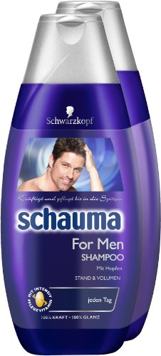 Schauma For Men Shampoo 2er Pack (2 x 400 ml)