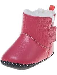 Little Blue Lamb Zapatos De Bebé Zapatos De Caminar Botas Botines rosa Felpa