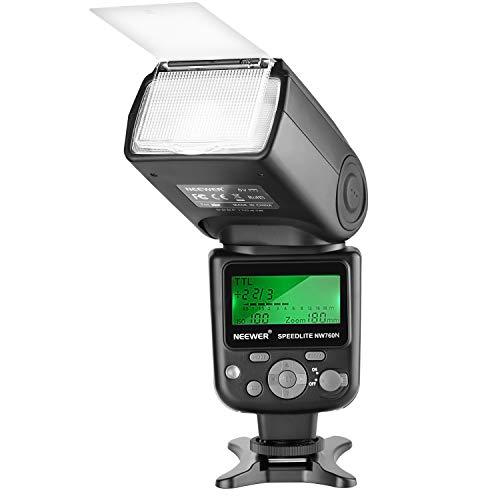 Neewer NW760 TTL Blitz Speedlite mit LCD Anzeige für Nikon D7200 D7100 D7000 D5500 D5300 D5200 D5100 D5000 D3300 D3200 D3100 D700 D600 D500 D90 D80 D70 und anderen Nikon Kameras - Ttl-lcd