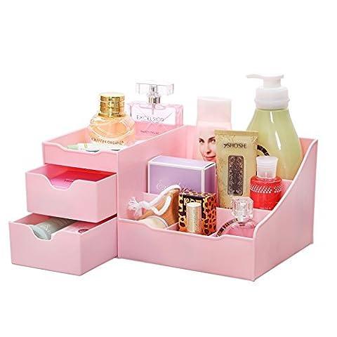 Uncluttered Designs Make-Up Organizer Mit Schubladen (Rosa)