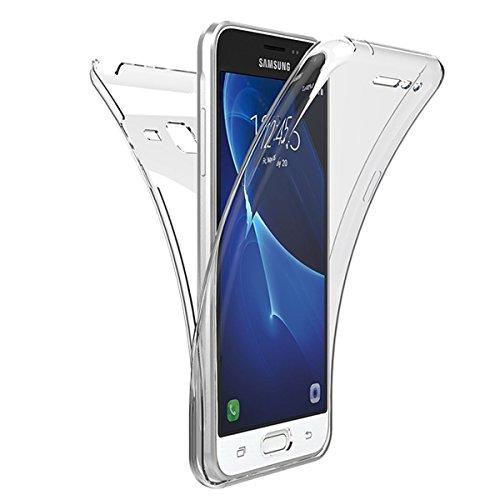 Kompatibel mit Galaxy Grand Prime Hülle,360 Full Cover Hülle,Crystal Clear Vorne Hinten TPU Silikon Handyhülle Durchsichtig Schutzhülle Case Tasche Für Galaxy Grand Prime