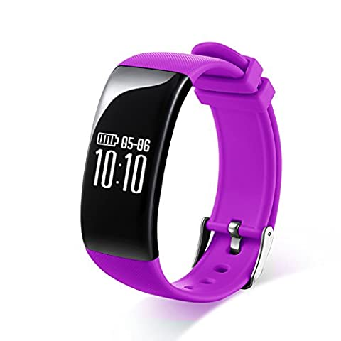 RGTOPONE Multifunctional Activity Fitness Tracker Intelligent Bright Screen Design/Heart Rate Monitor/ Call Reminder/Notifications/Pedometer/Telemeter/Calorie Counter/Sleep Monitor/Alarm Clock/Stopwatch/Sedentary Reminder/ Exercise Bracelet Sports Watch for IOS Iphone Android Phone