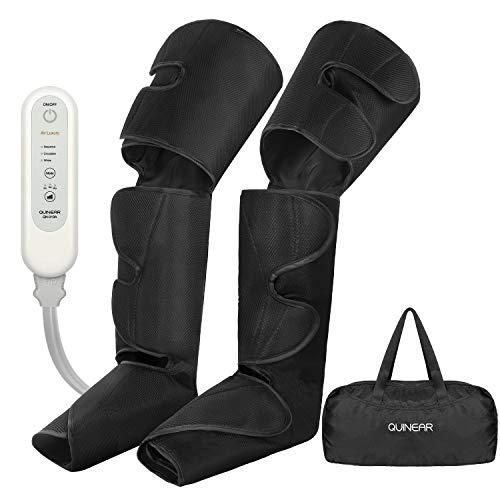 QUINEAR beine massagegerät oberschenkel Massage-Gerät für Füße lymphdrainage gerät wadenmassagegerät elektrisch zur Linderung Krampfadern & Wadenschmerzen mit 3 Modi 3 Intensitäten