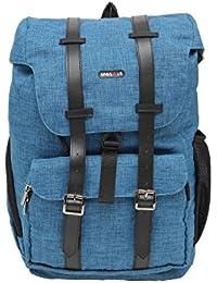BagsRus Fashion 19L Persian Blue Polyester Laptop Fashion Travel Backpack Bag (FB106FPB)