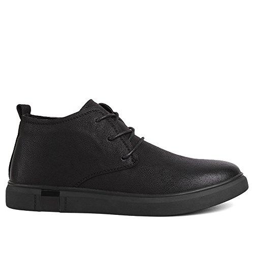 gli uomini di moda casual scarpe di cuoio respirabile scarpe corrispondono tutti le scarpe casual black