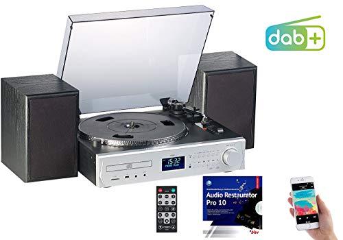 auvisio Musikanlagen: Plattenspieler/Digitalisierer, DAB+, CD, Bluetooth, MC, USB, MP3, 80 W (Schallplatten digitalisieren)